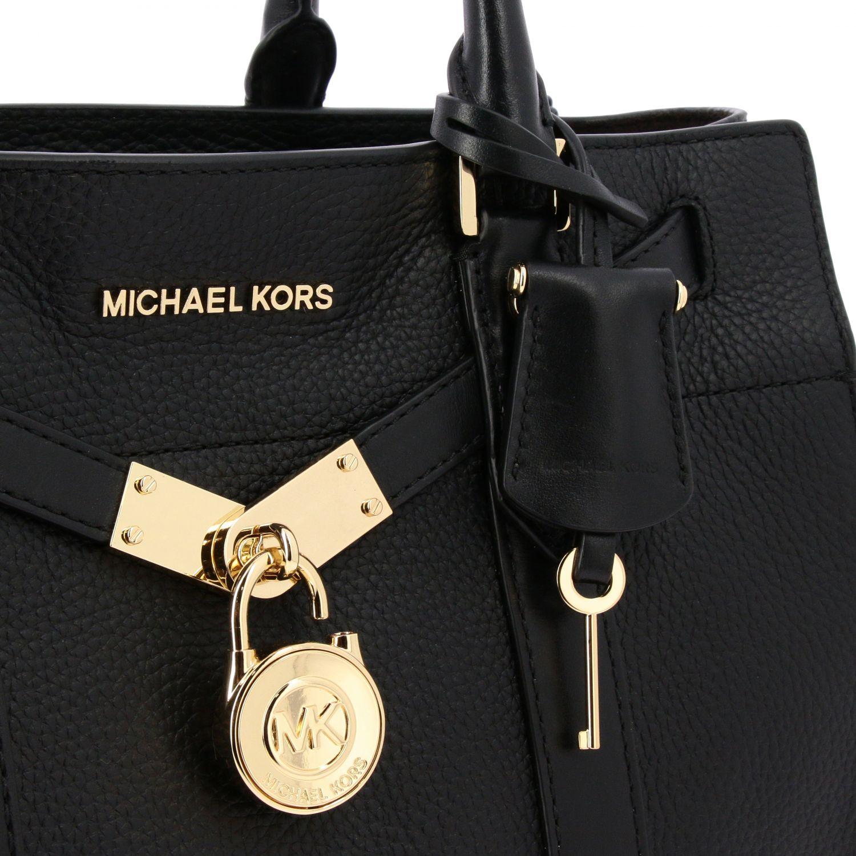 Michael Michael Kors New hamilton 捶打皮手袋 黑色 4