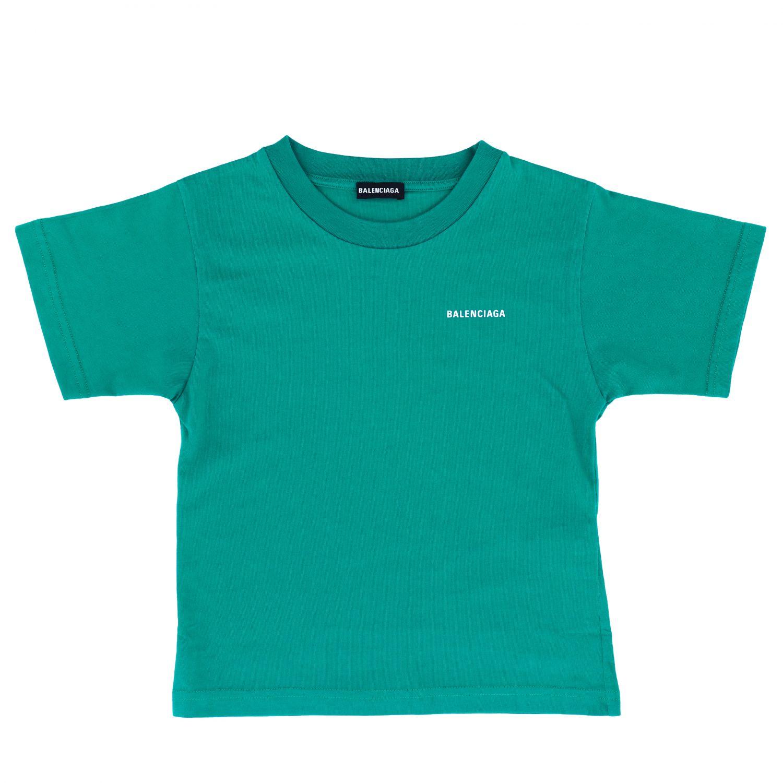 T恤 Balenciaga: Balenciaga logo印花T恤 绿色 1