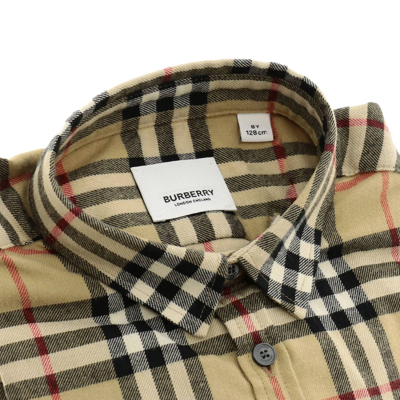 Camicia classic check Burberry a maniche lunghe di flanella beige 2