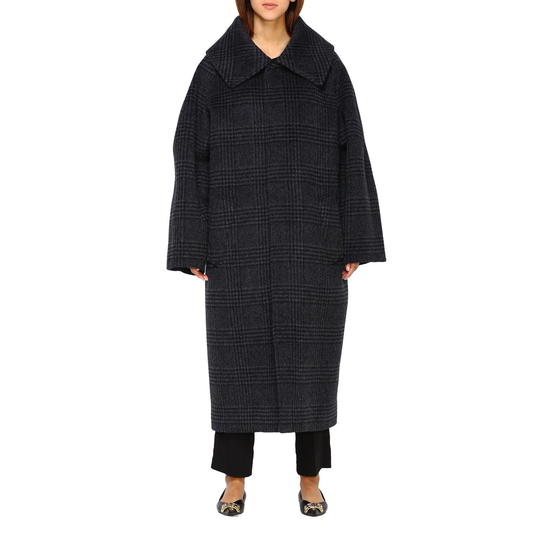 Coat women Balenciaga charcoal 1