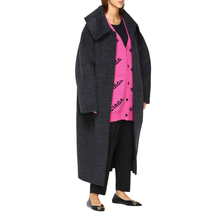 Coat women Balenciaga charcoal 2