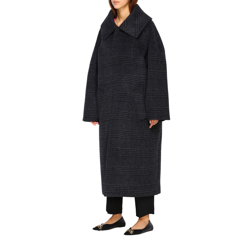 Coat women Balenciaga charcoal 4