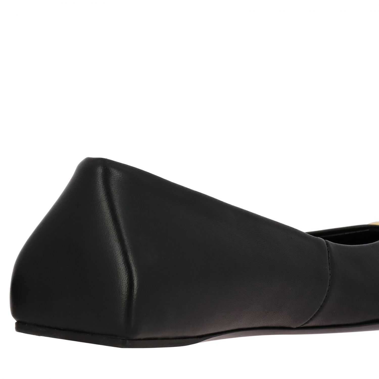芭蕾平底鞋 Balenciaga: Balenciaga BB尖头真皮芭蕾舞鞋 黑色 5