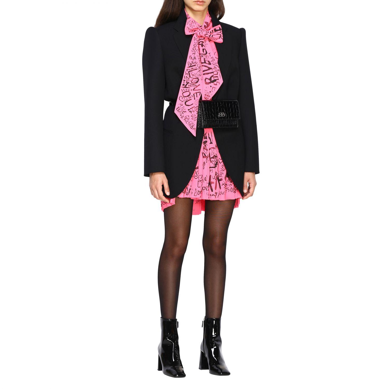 Giacca Balenciaga a monopetto in lana doppiata nero 2