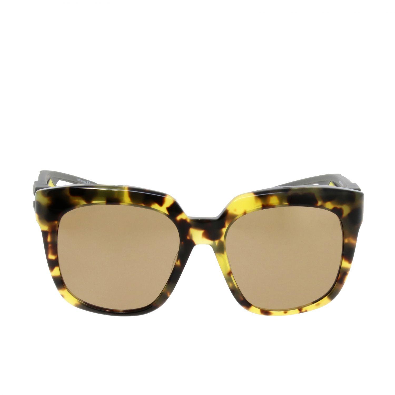 Occhiali Balenciaga I hybrid d-frame in acetato a fantasia beige 2
