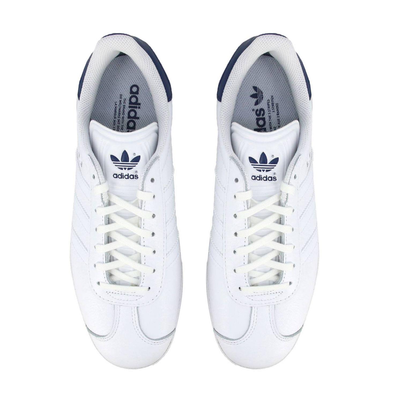 运动鞋 Adidas Originals: Adidas Originals Stan Smith 真皮对比色后跟运动鞋 白色 3
