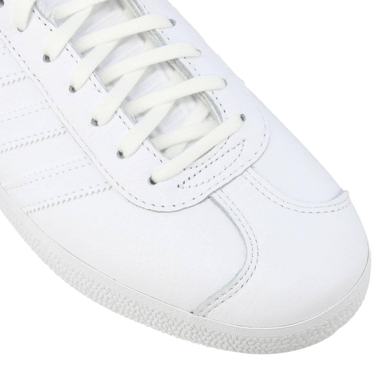 运动鞋 Adidas Originals: Adidas Originals Stan Smith 真皮对比色后跟运动鞋 白色 4