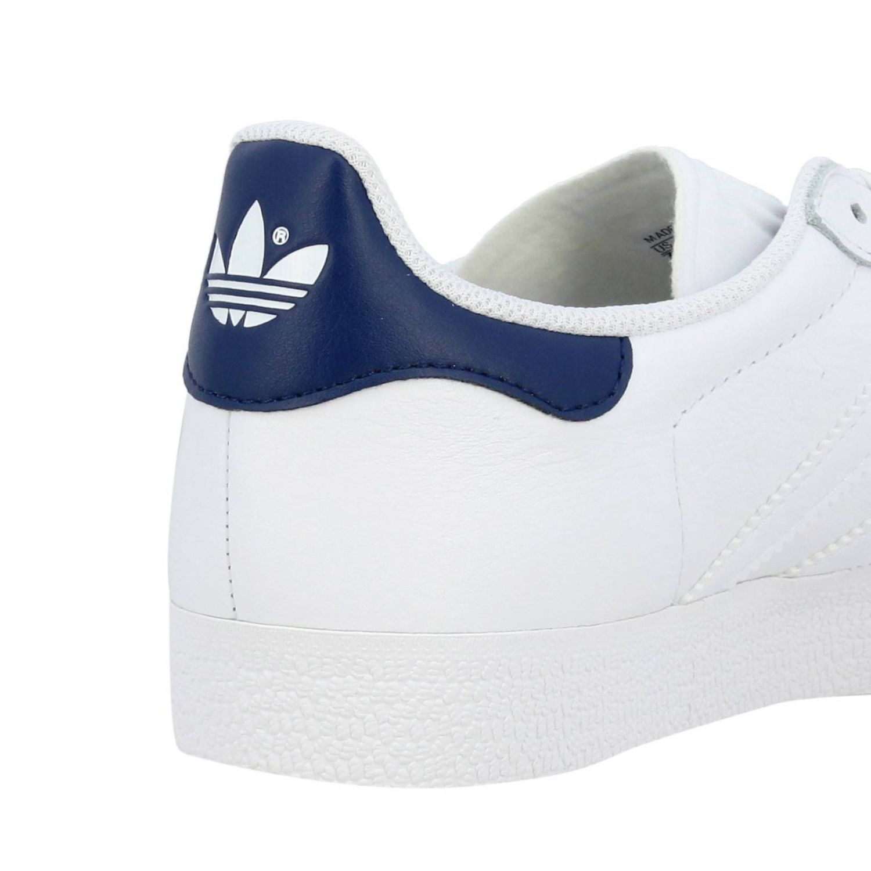 运动鞋 Adidas Originals: Adidas Originals Stan Smith 真皮对比色后跟运动鞋 白色 5