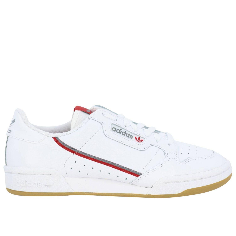 Zapatillas Adidas Originals: Zapatillas Adidas Originals 80 de cuero con agujeros y logo blanco 1