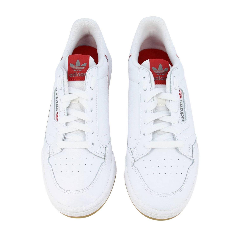 Zapatillas Adidas Originals: Zapatillas Adidas Originals 80 de cuero con agujeros y logo blanco 3