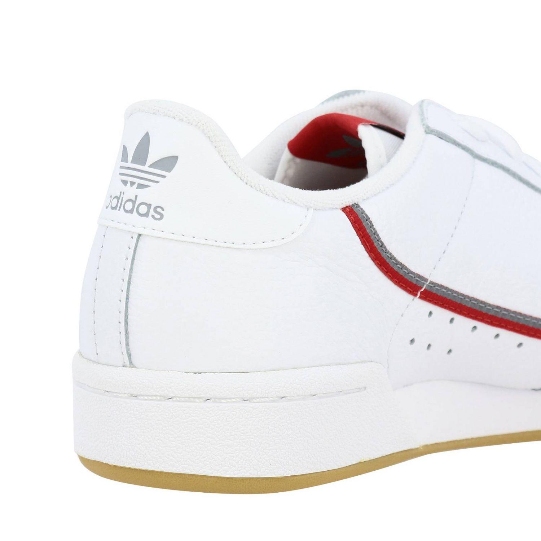 Zapatillas Adidas Originals: Zapatillas Adidas Originals 80 de cuero con agujeros y logo blanco 5