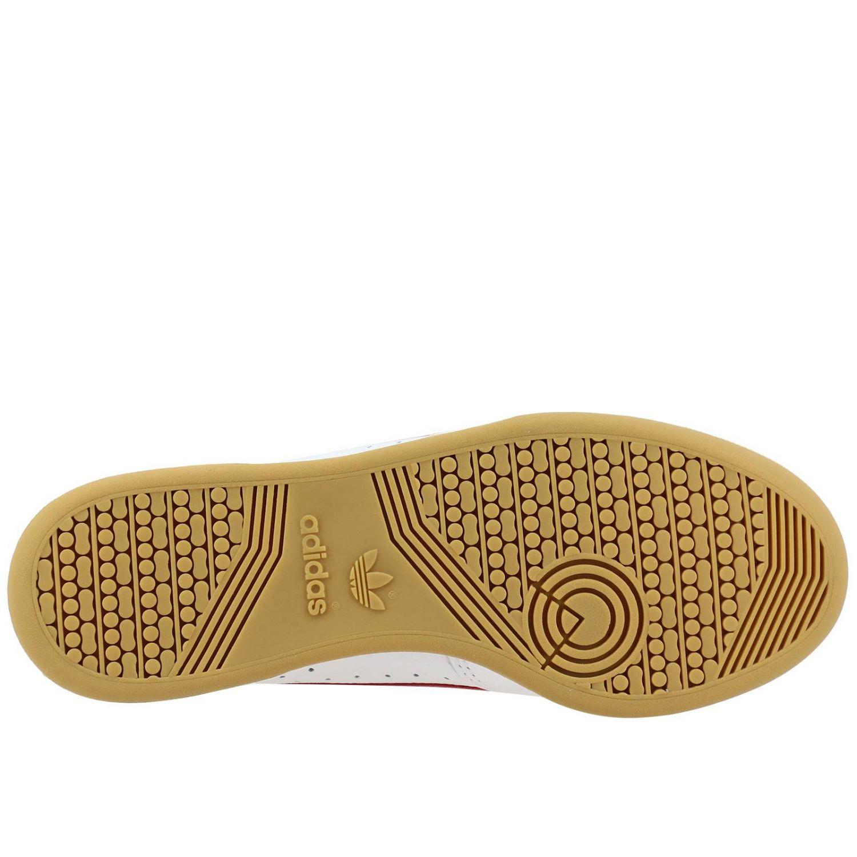 Zapatillas Adidas Originals: Zapatillas Adidas Originals 80 de cuero con agujeros y logo blanco 6