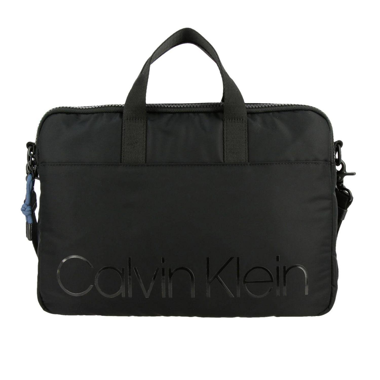 Calvin Klein Trail logo印花尼龙电脑包 黑色 1