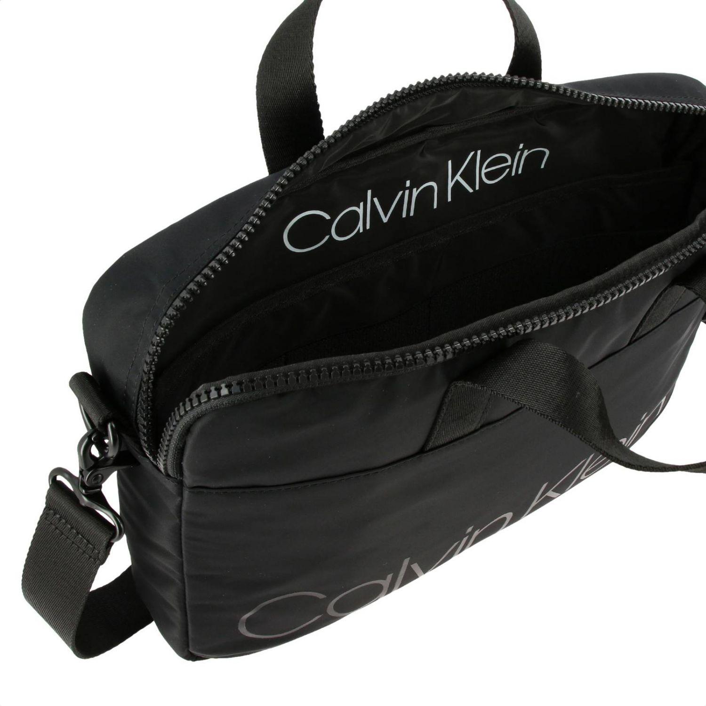 Calvin Klein Trail logo印花尼龙电脑包 黑色 5