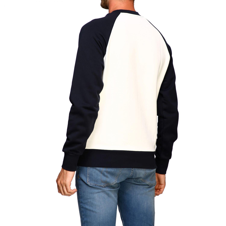 Sweater Calvin Klein: Calvin Klein sweatshirt with crew neck with vintage logo white 3