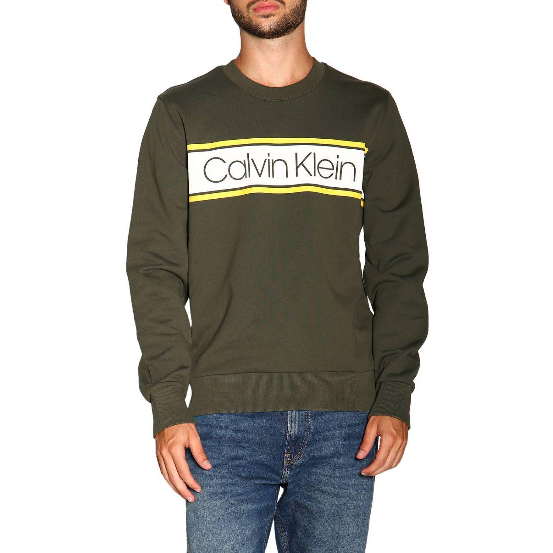 Sweatshirt Calvin Klein: Calvin Klein crewneck sweatshirt with logo military 1