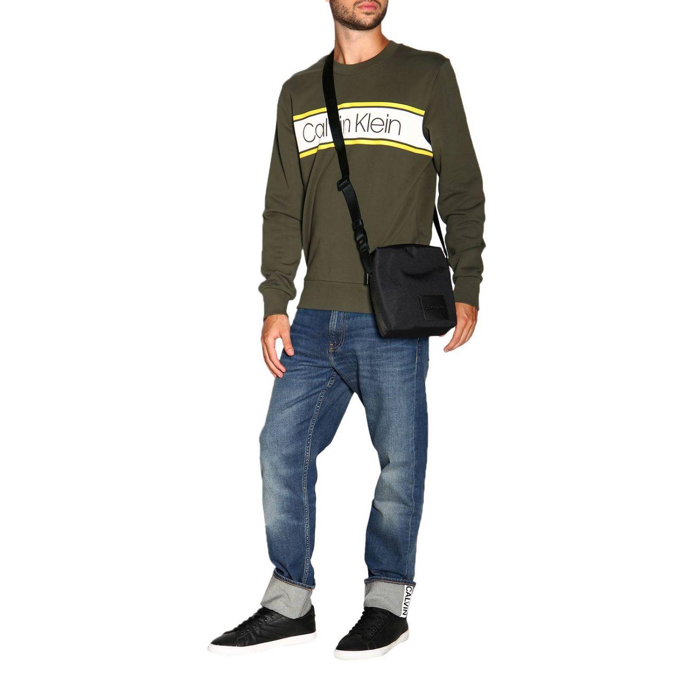 Sweatshirt Calvin Klein: Calvin Klein crewneck sweatshirt with logo military 2