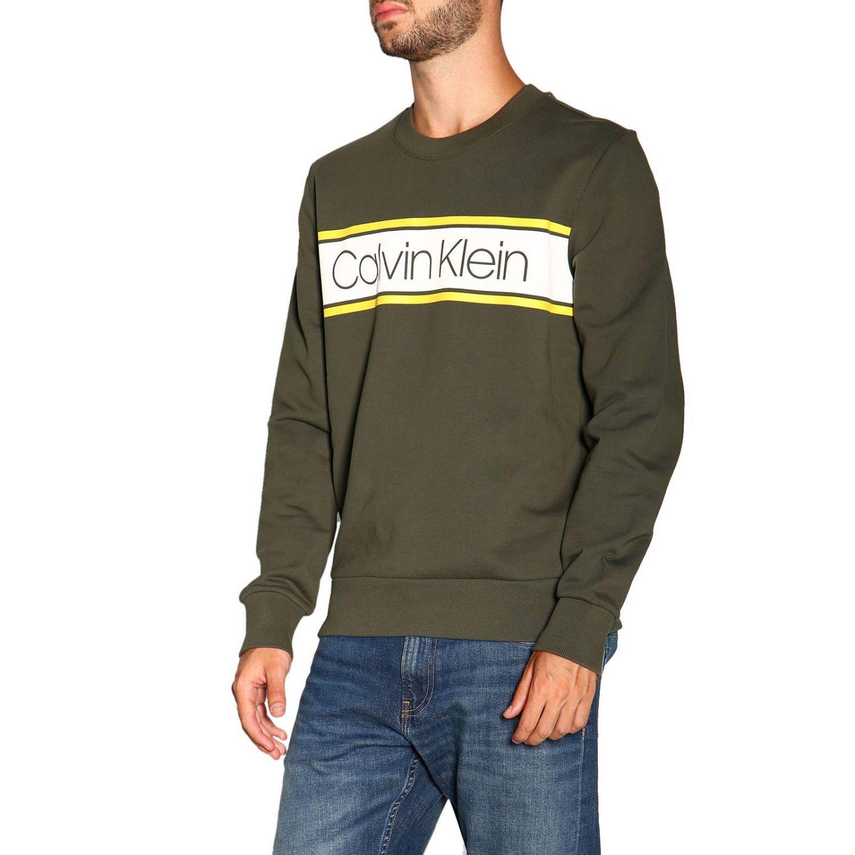 Sweatshirt Calvin Klein: Calvin Klein crewneck sweatshirt with logo military 4