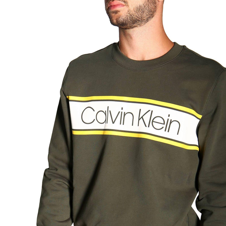 Sweatshirt Calvin Klein: Calvin Klein crewneck sweatshirt with logo military 5