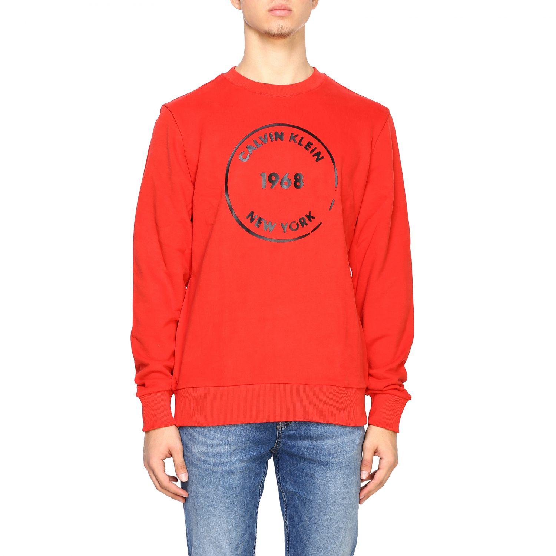 Sweatshirt Calvin Klein: Calvin Klein crewneck sweatshirt with logo red 1