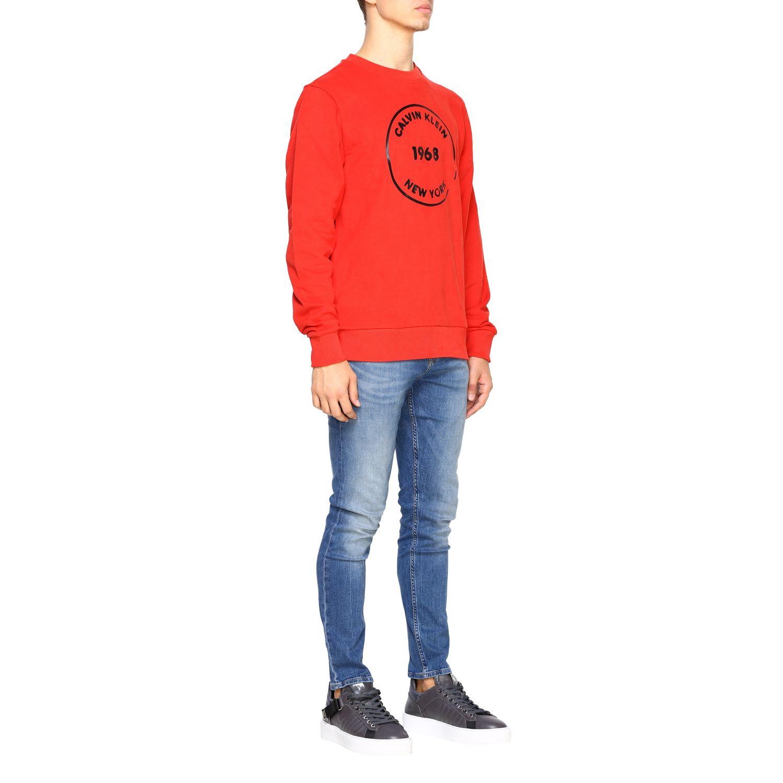 Sweatshirt Calvin Klein: Calvin Klein crewneck sweatshirt with logo red 2
