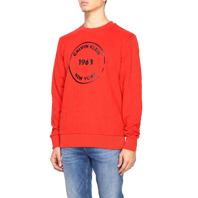 Sweatshirt Calvin Klein: Calvin Klein crewneck sweatshirt with logo red 4