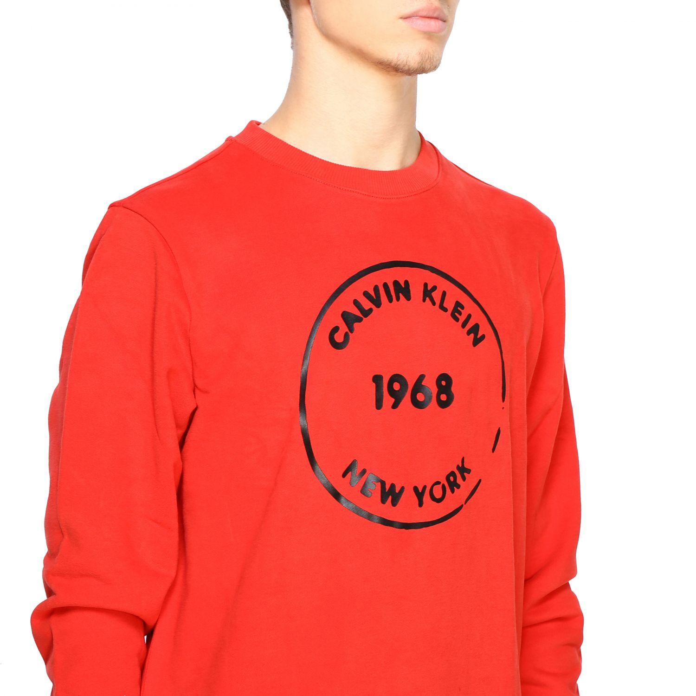 Sweatshirt Calvin Klein: Calvin Klein crewneck sweatshirt with logo red 5