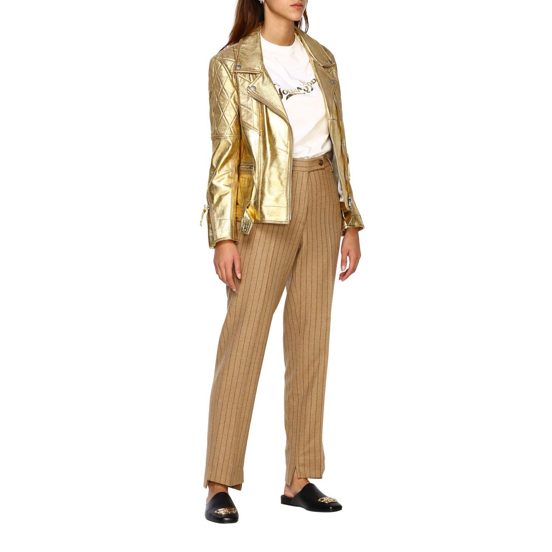Pantalone Golden Goose: Pantalone Golden Goose gessato con tasche america slim beige 2