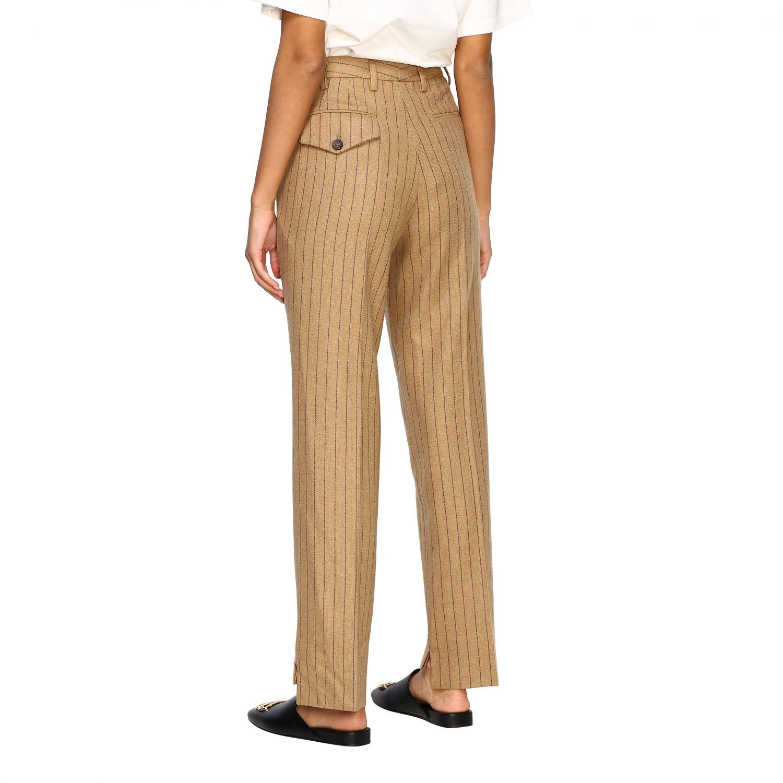Pantalone Golden Goose: Pantalone Golden Goose gessato con tasche america slim beige 3