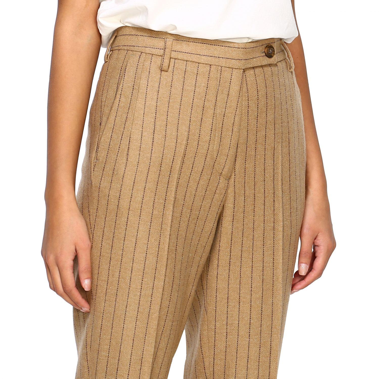 Pantalone Golden Goose: Pantalone Golden Goose gessato con tasche america slim beige 5