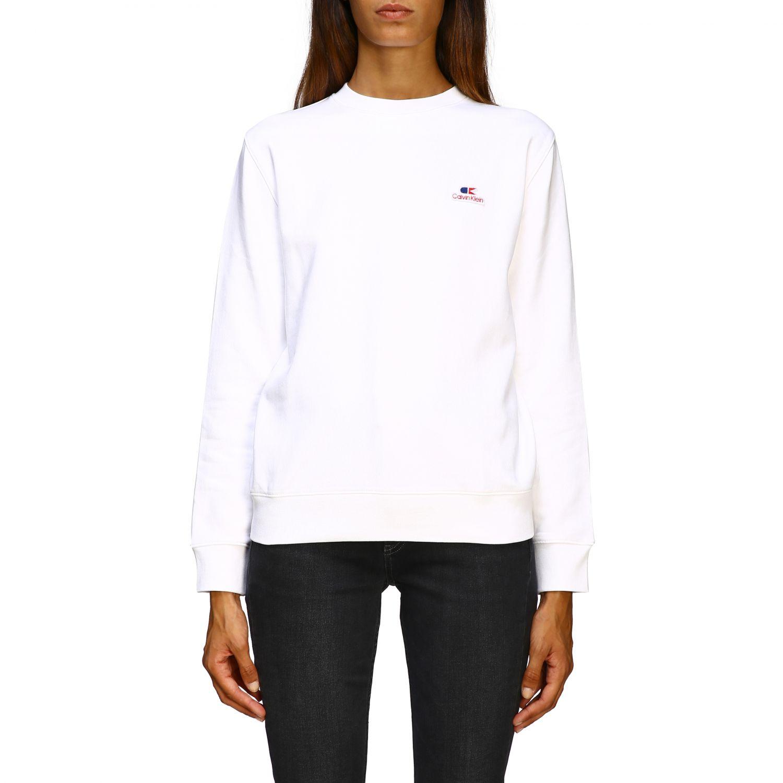 Sweatshirt Calvin Klein: Jumper women Calvin Klein white 1