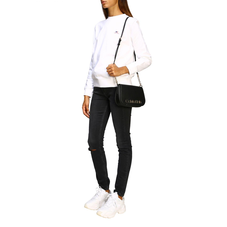 Sweatshirt Calvin Klein: Jumper women Calvin Klein white 2