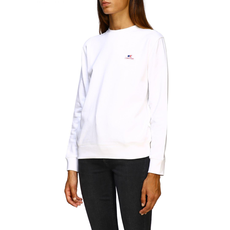 Sweatshirt Calvin Klein: Jumper women Calvin Klein white 4