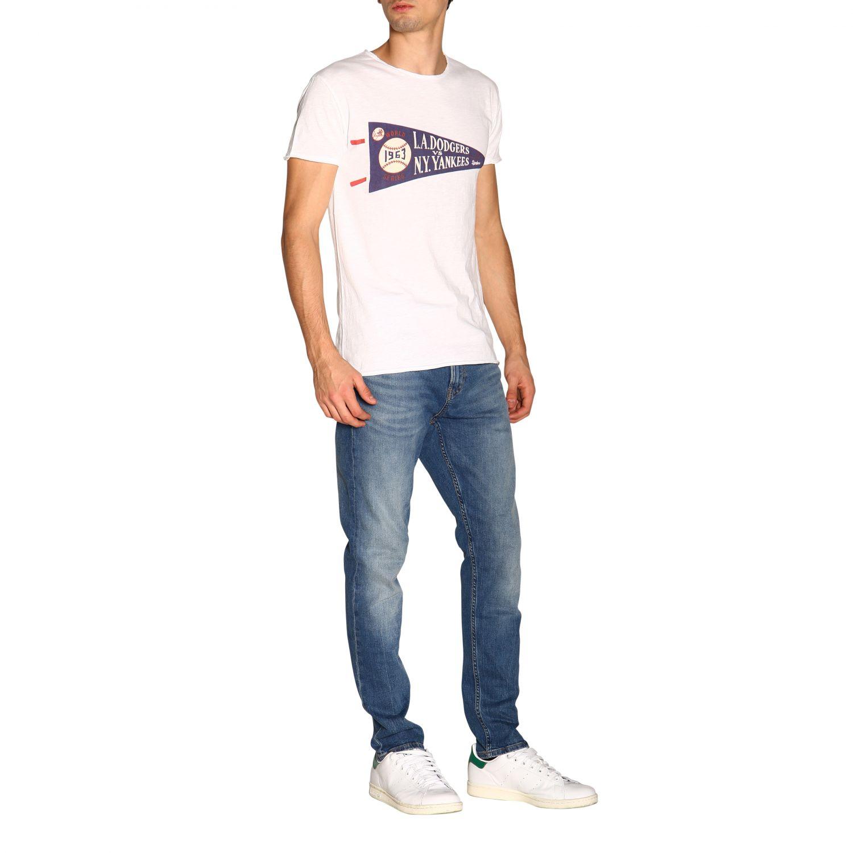 T-shirt #10 1921 a girocollo con maxi stampa bianco 2