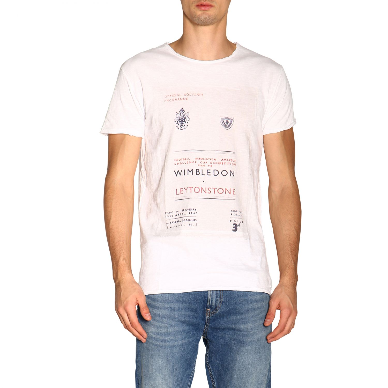 T-shirt #26 1921 a girocollo con maxi stampa bianco 1