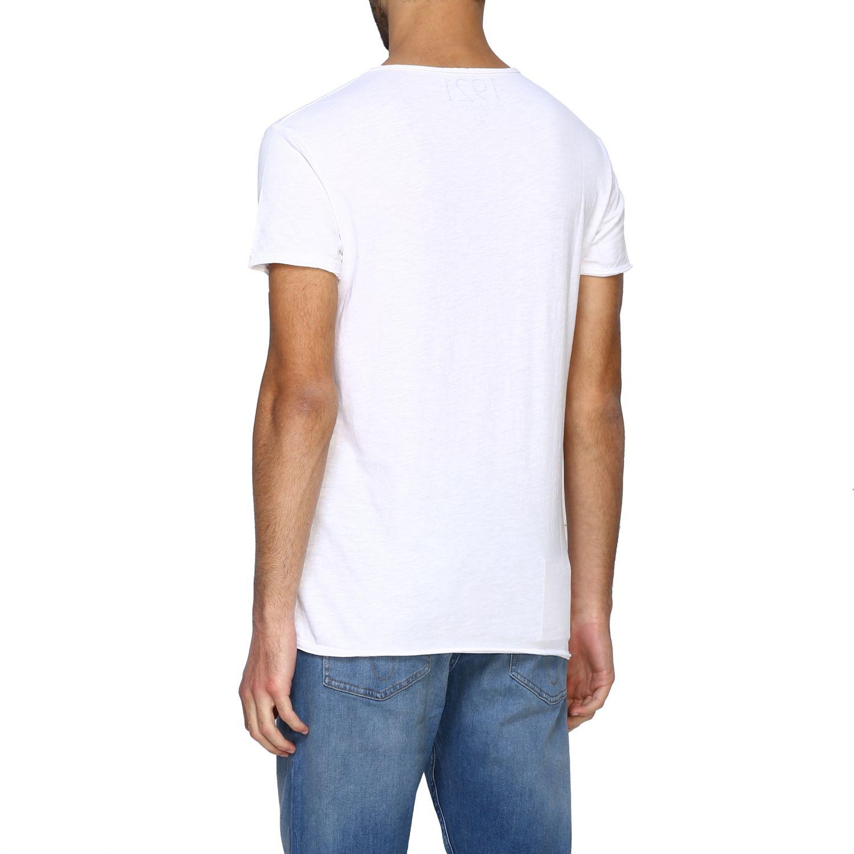 T-shirt 1921: T-shirt #04 1921 a girocollo con maxi stampa bianco 3