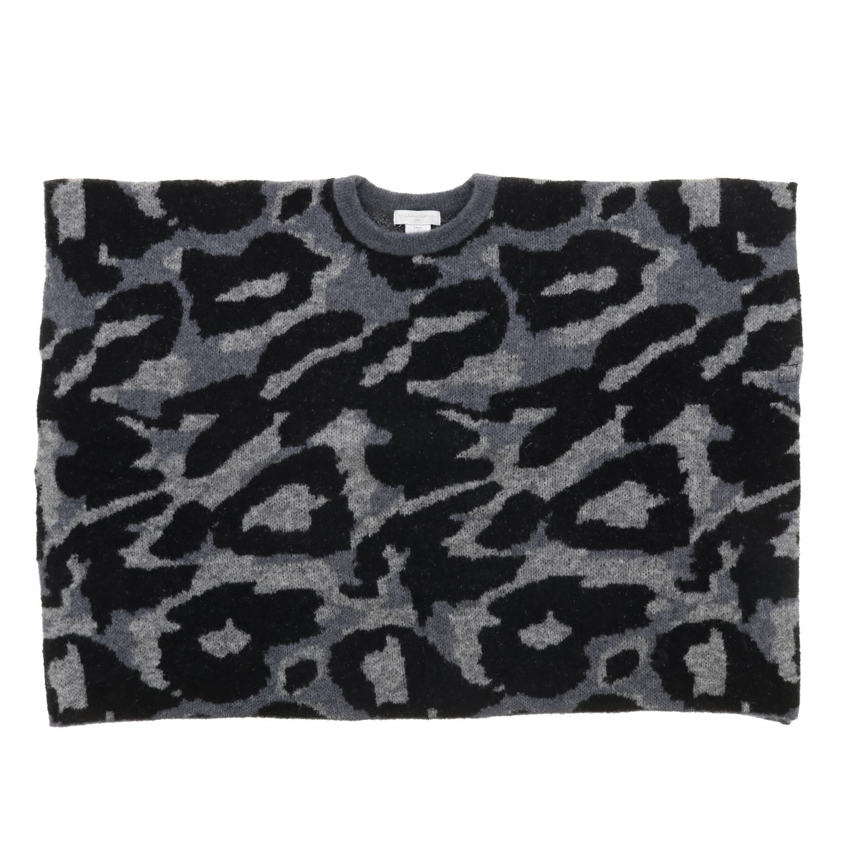 Cappa Stella McCartney in lana animalier grigio 1