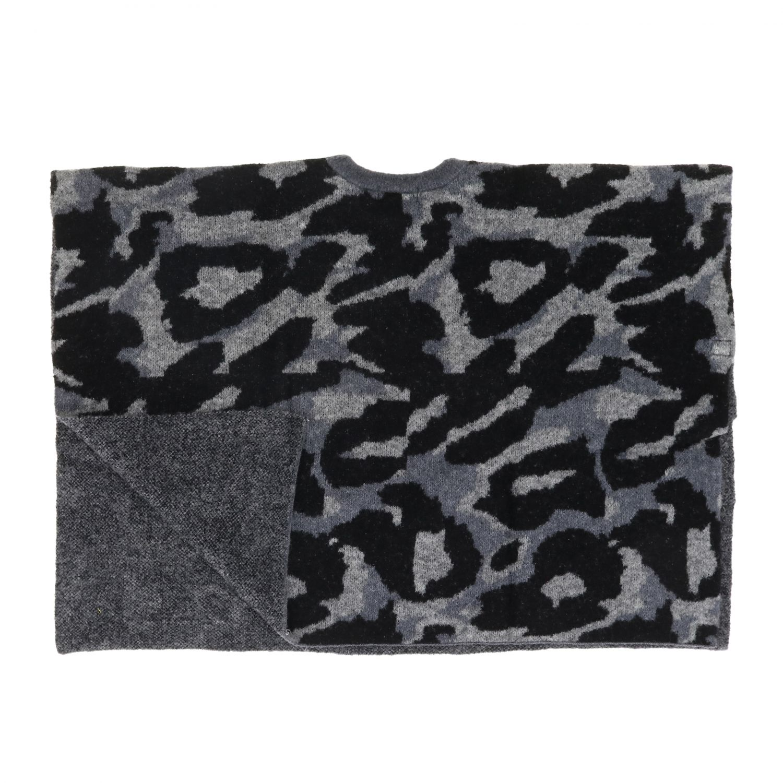 Cappa Stella McCartney in lana animalier grigio 3