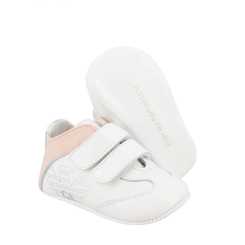 Scarpe Emporio Armani: Sneakers Emporio Armani in pelle con doppie fibbie e logo rosa 2