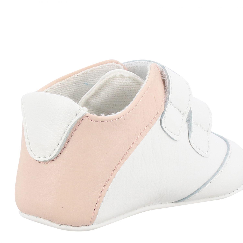 Scarpe Emporio Armani: Sneakers Emporio Armani in pelle con doppie fibbie e logo rosa 4