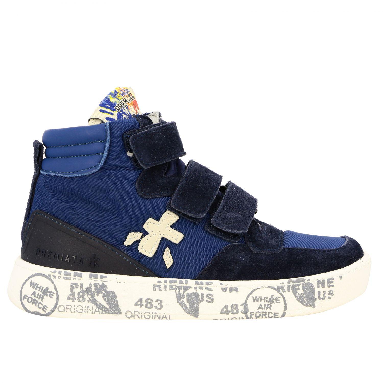 Zapatos niños Premiata azul oscuro 1