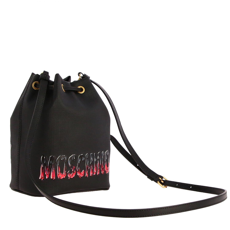 Sac porté épaule femme Moschino Couture noir 3