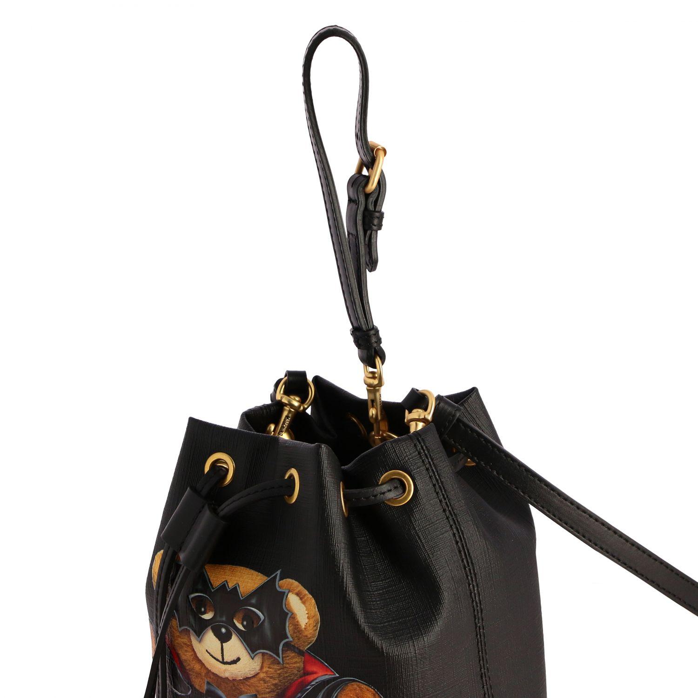Sac porté épaule femme Moschino Couture noir 4