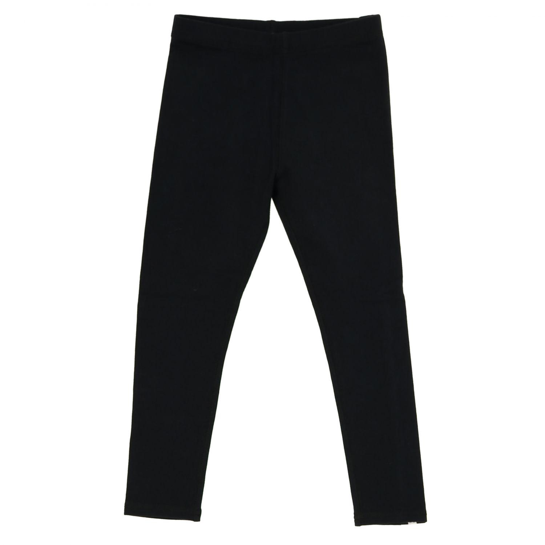裤子 Burberry: Burberry logo装饰弹性棉打底裤 黑色 1