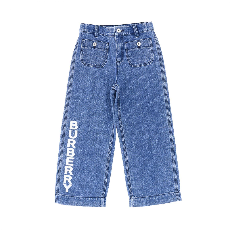 Jeans Burberry: Jeans Burberry in denim con logo stampato denim 1