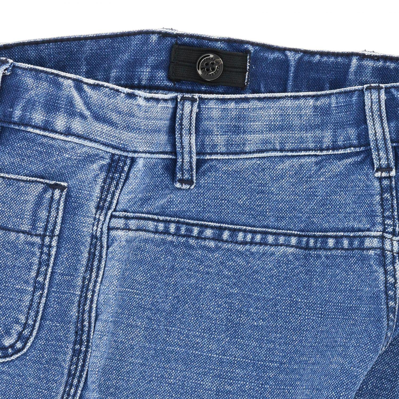 Jeans Burberry: Jeans Burberry in denim con logo stampato denim 3