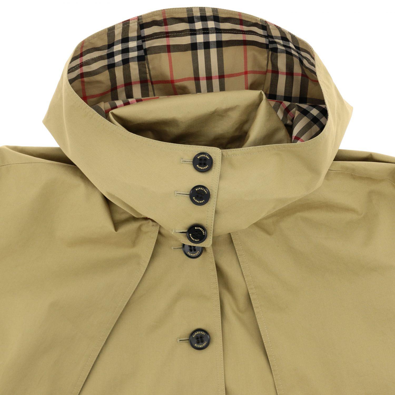 Burberry 斜纹棉连帽风衣 米色 3