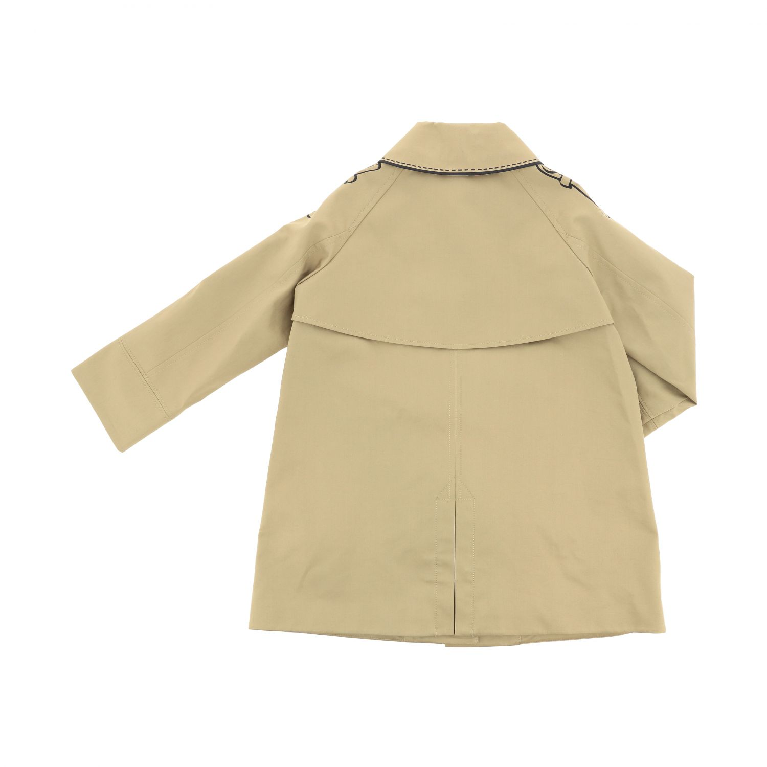 Burberry trench coat with button print beige 2