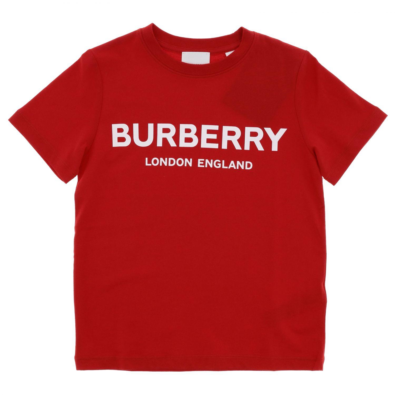 T恤 Burberry: Burberry logo印花短袖T恤 红色 1