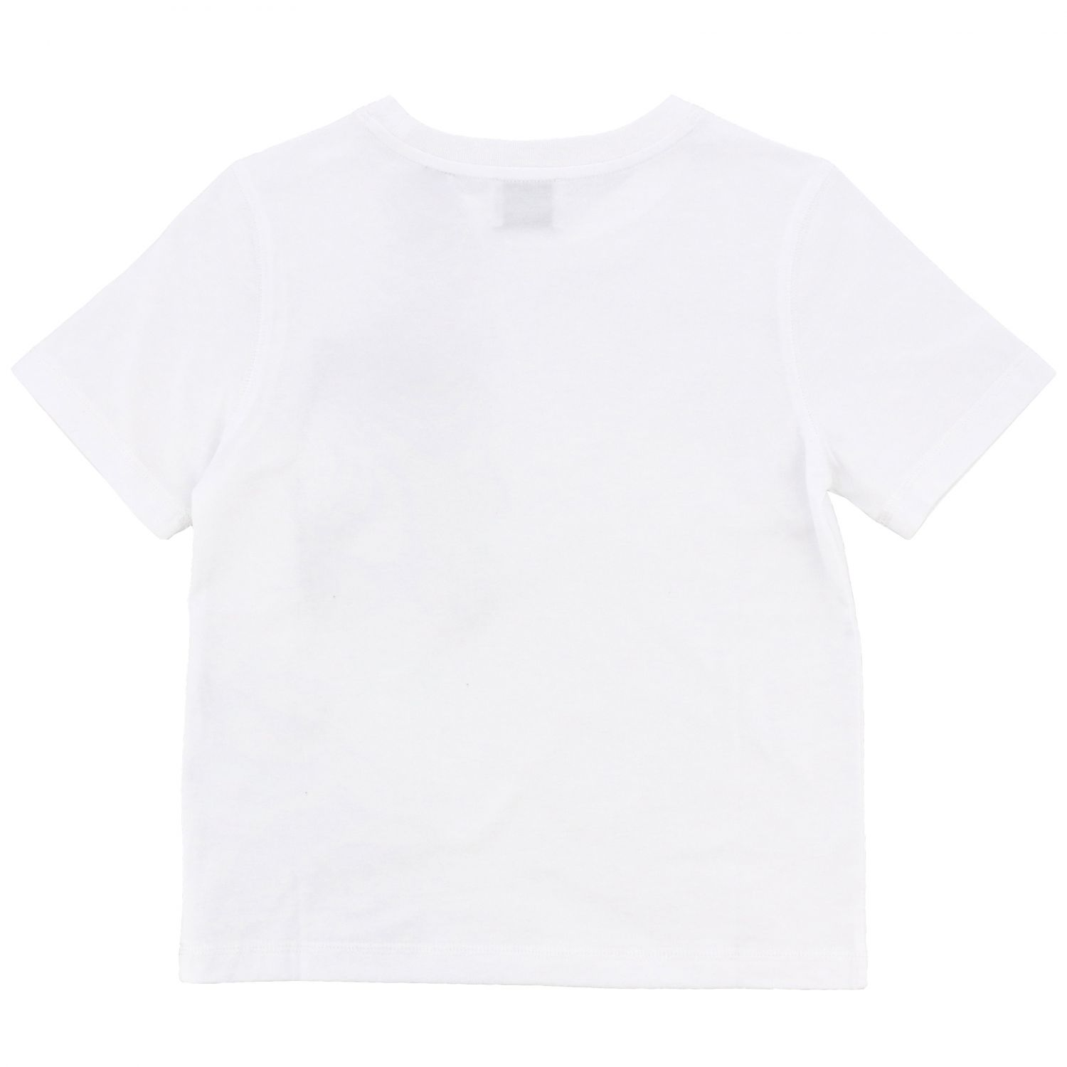 Short-sleeved Burberry t-shirt with striped pocket white 2
